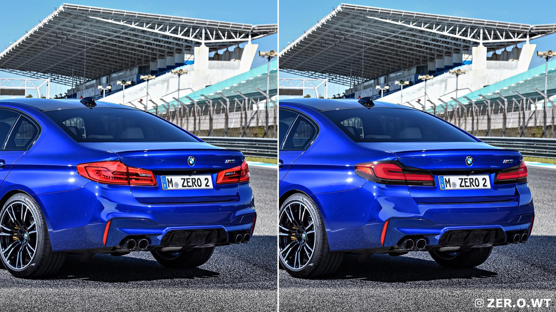 2021 Bmw M5 Facelift Renders Show The Front And Rear Of The F90 Lci Pistonleaks