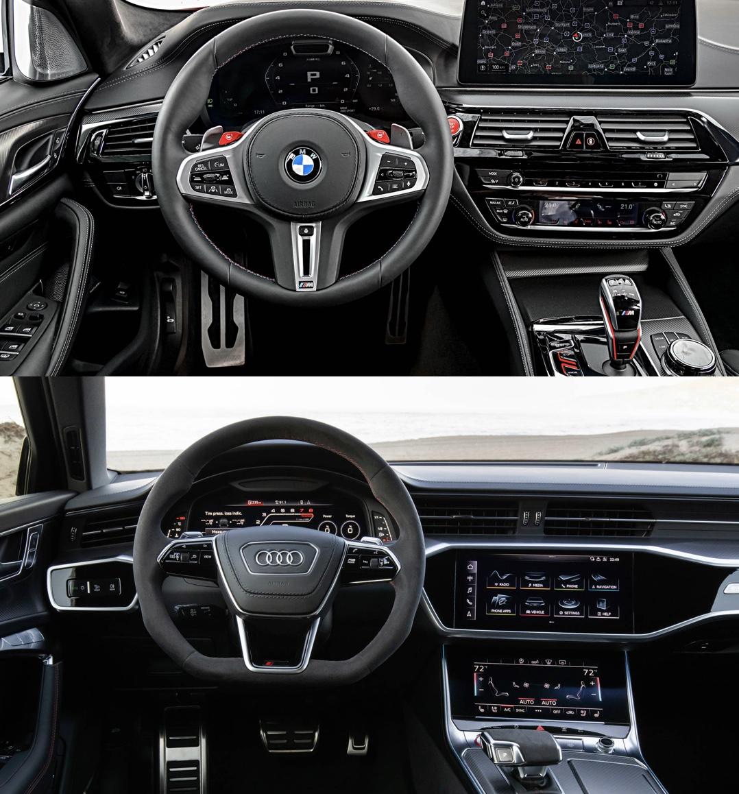 Photo Comparison: 2021 BMW M5 LCI Vs Audi RS6 Avant