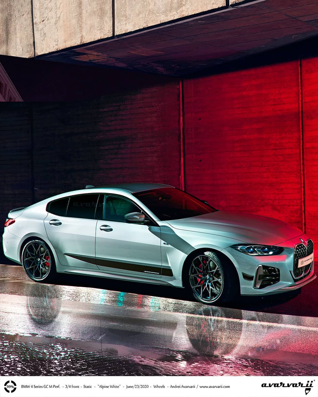 2021 Bmw 4 Series Gran Coupe Rendered With M Performance Parts