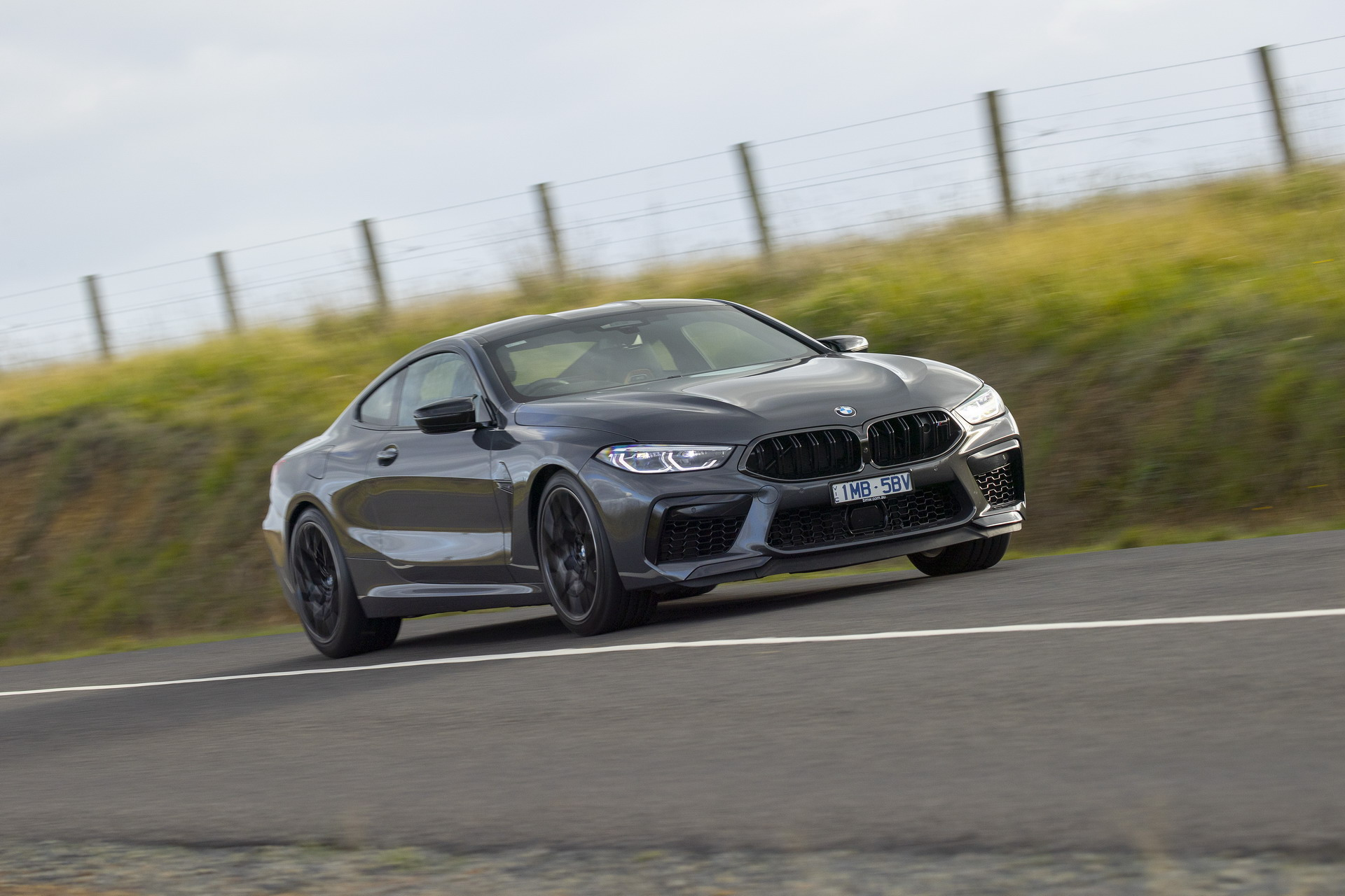 BMW M8 Competition Coupe in Brands Hatch Grey 21