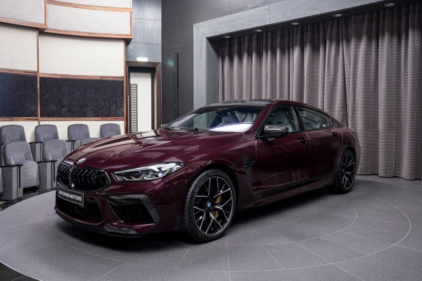 BMW M8 Competition Gran Coupe F93 in BMW Individual Ametrin metallic 2 830x553