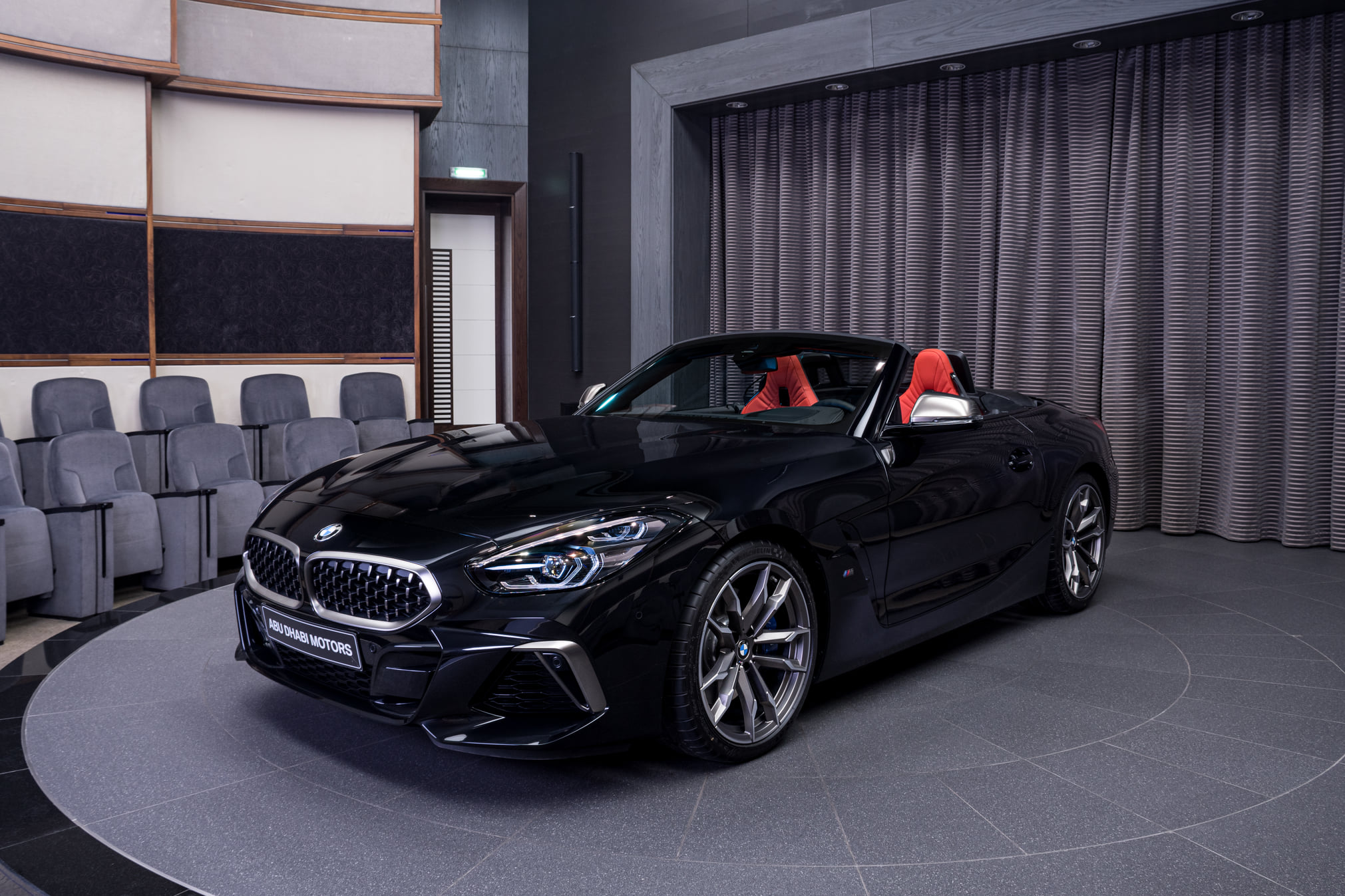 Bmw Z4 M40i Featured In Sapphire Black Metallic With Magma Red Interior