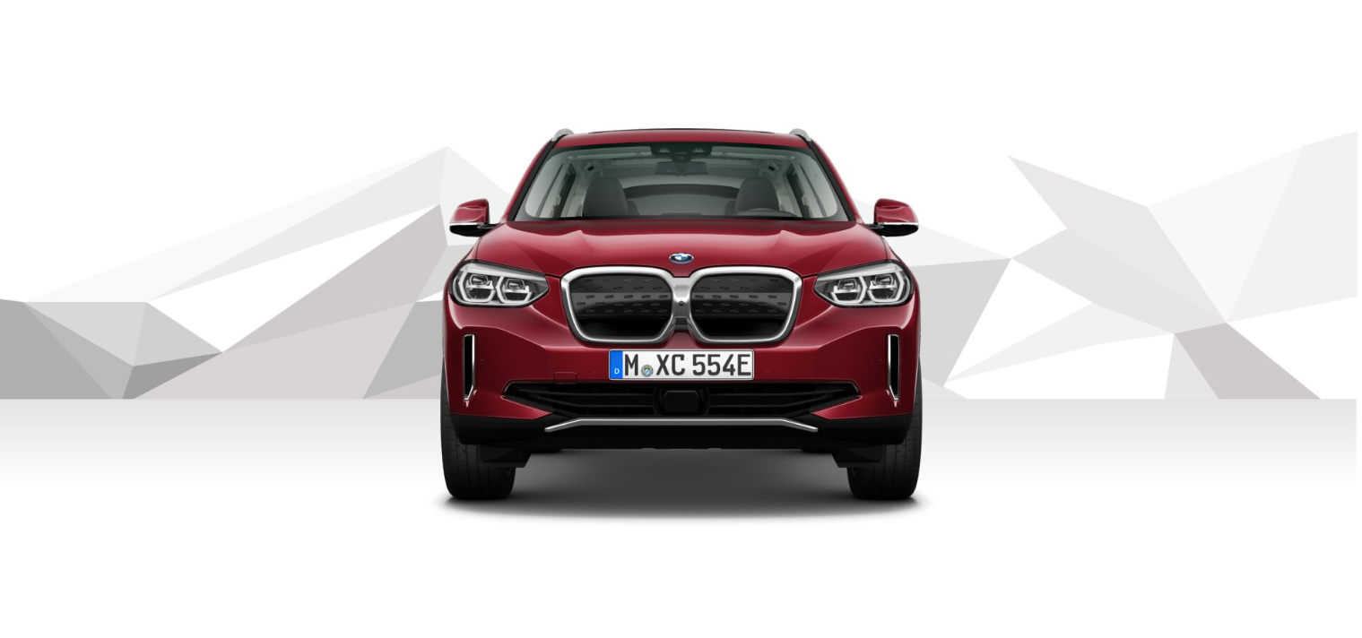 The New BMW iX3 Piemont Red metallic 1