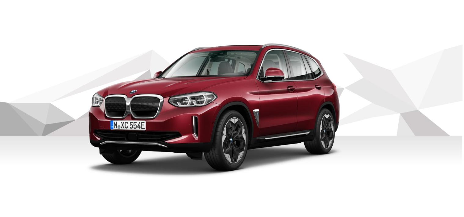 The New BMW iX3 Piemont Red metallic 2
