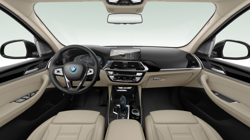 Vernasca Canberra Beige leather upholstery in the new BMW iX3 Impressive.