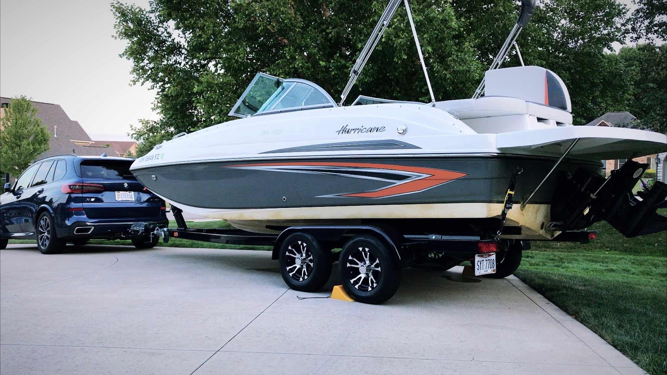 can bmw x5 tow boat