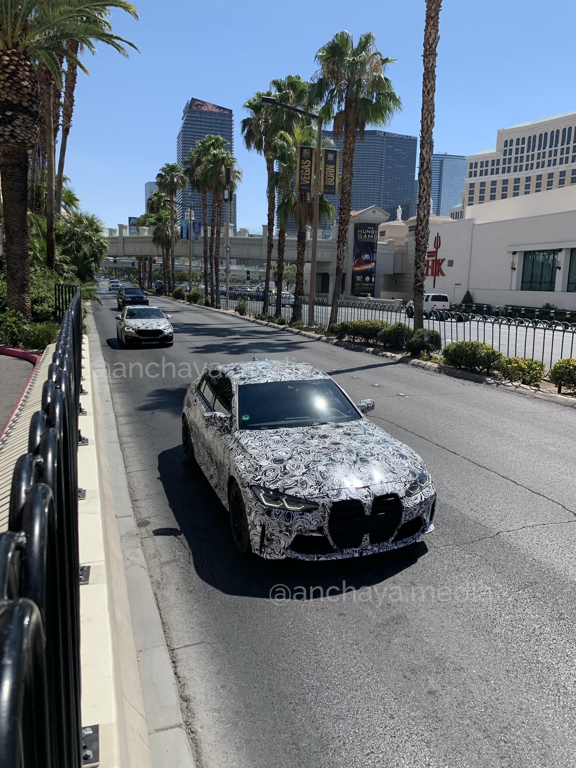 2021 BMW M3 and M4 fleet spotted in Las Vegas