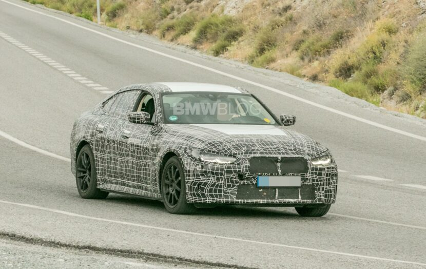 2022 BMW i4 electric sedan spotted in Spain
