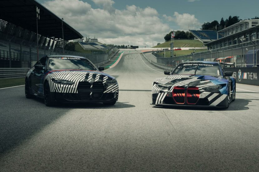 BMW M4 Coupe and BMW M4 GT3 00 830x553