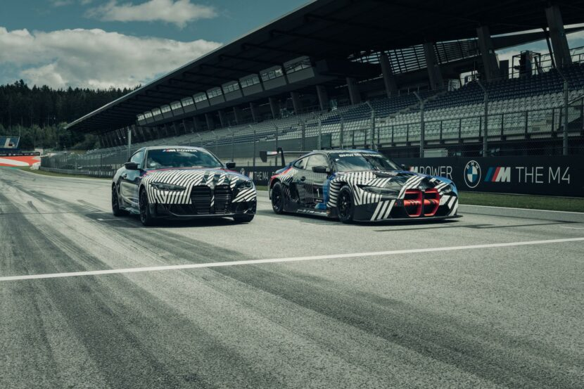 BMW M4 Coupe and BMW M4 GT3 07 830x553
