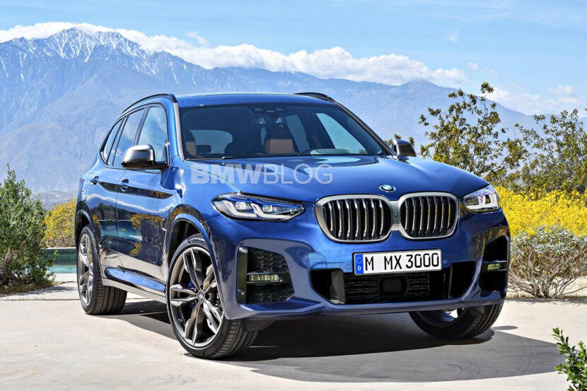 2021 bmw x3 facelift rendering 830x553