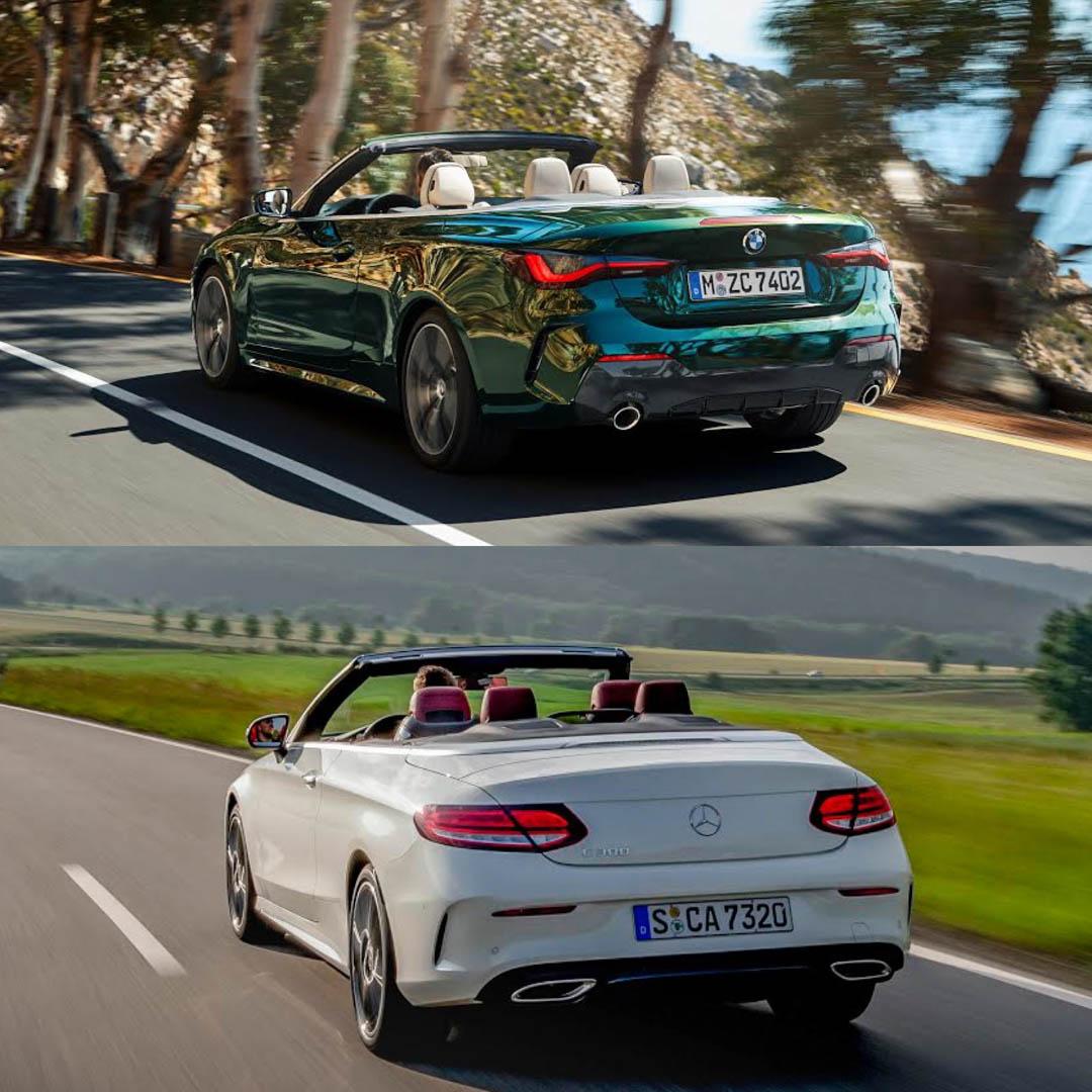 Photo Comparison Bmw 4 Series Convertible Vs Mercedes Benz C Class Cabriolet