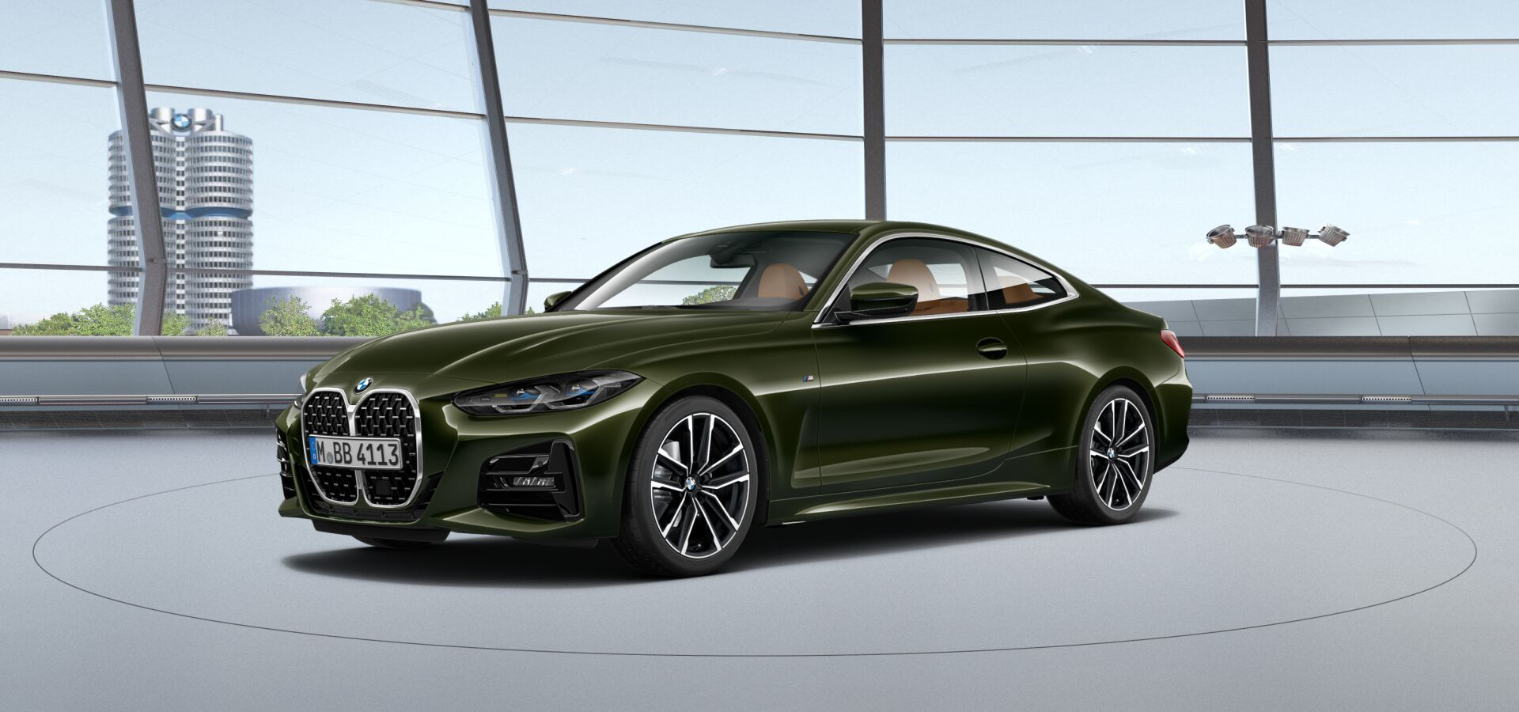 BMW 4 Series Coupe G22 featured in San Remo Green metallic 1
