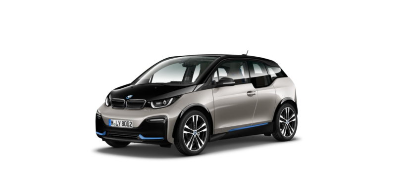 BMW i3s I01 featured in Cashmere Silver metallic with BMW i blue accents 1 830x389