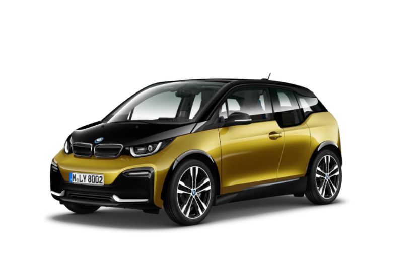 BMW i3s I01 featured in Galvanic Gold metallic with Frozen Grey accents 1 830x553
