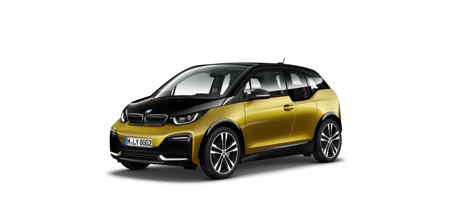 BMW i3s I01 featured in Galvanic Gold metallic with Frozen Grey accents 1