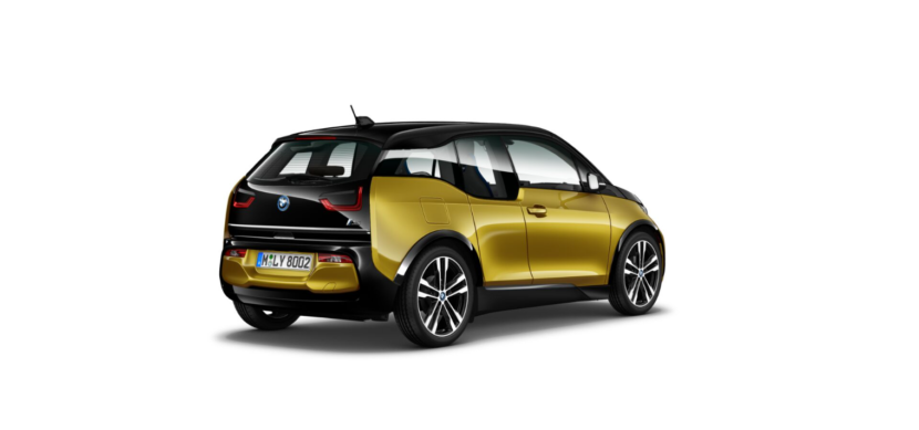 BMW i3s I01 featured in Galvanic Gold metallic with Frozen Grey accents 3 830x389