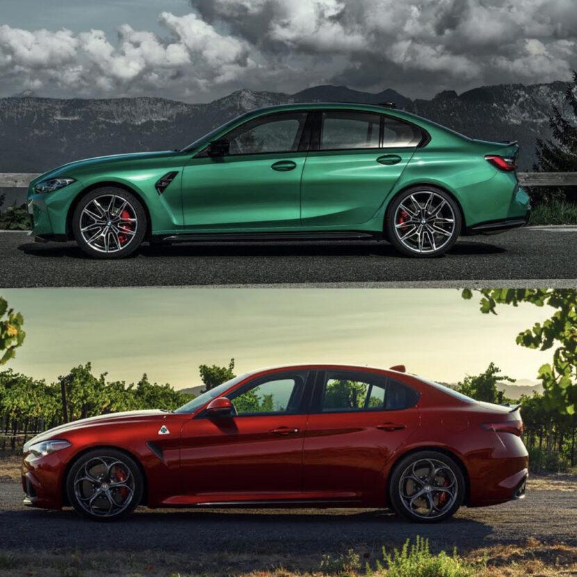 G80 BMW M3 vs Alfa Romeo Giulia Quadrifoglio 2 of 4 830x830