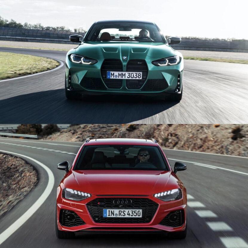 G80 BMW M3 vs Audi RS4 Avant 3 of 4 830x830