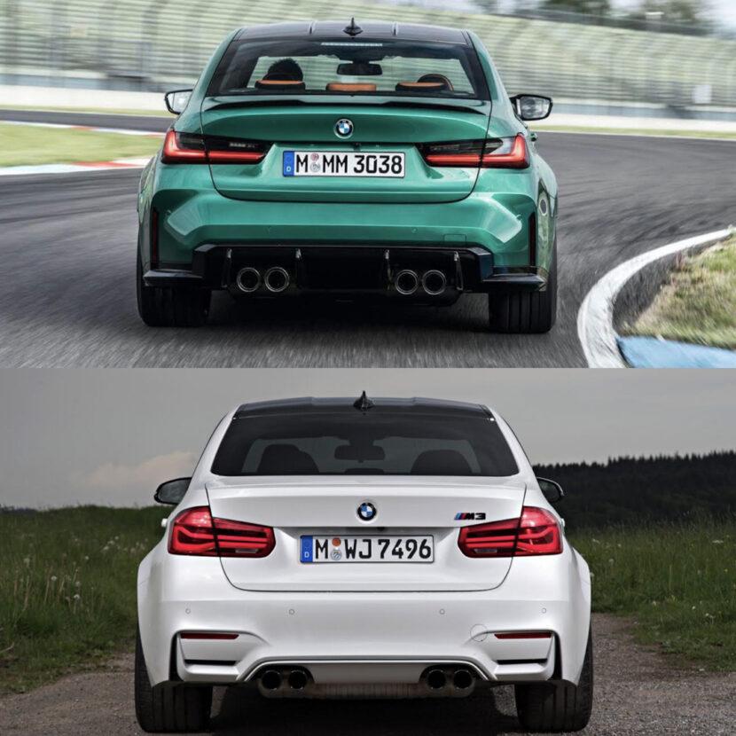 G80 BMW M3 vs F80 BMW M3 2 of 4 830x830
