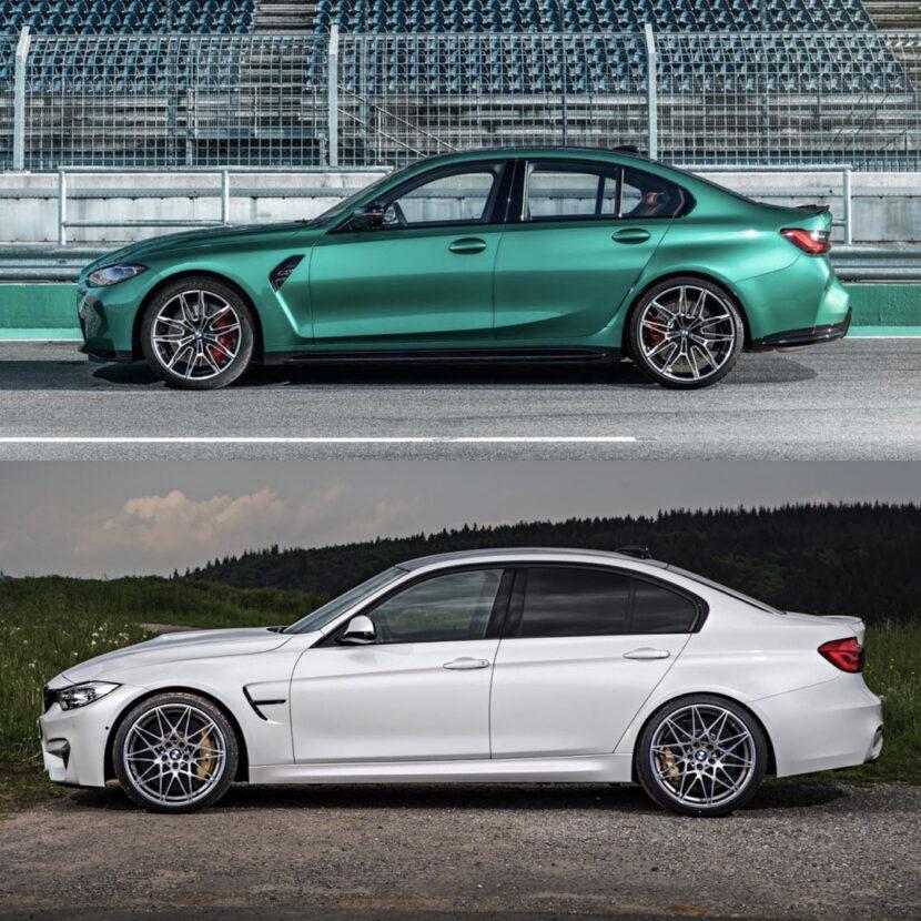 G80 BMW M3 vs F80 BMW M3 3 of 4 830x830