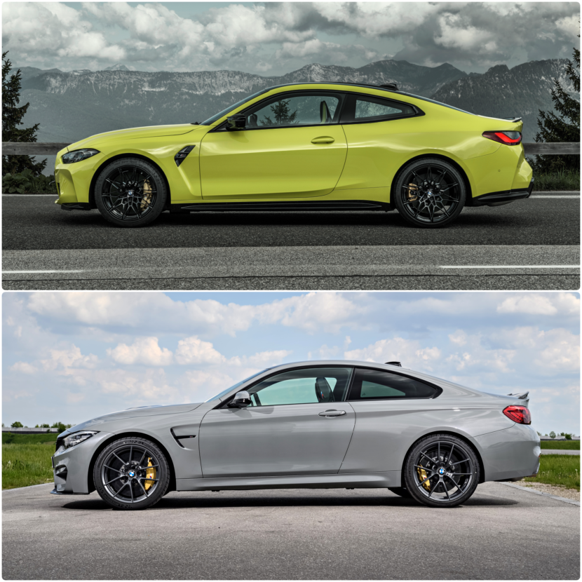 G82 M4 vs. F82 M4 Side Comparison 830x830