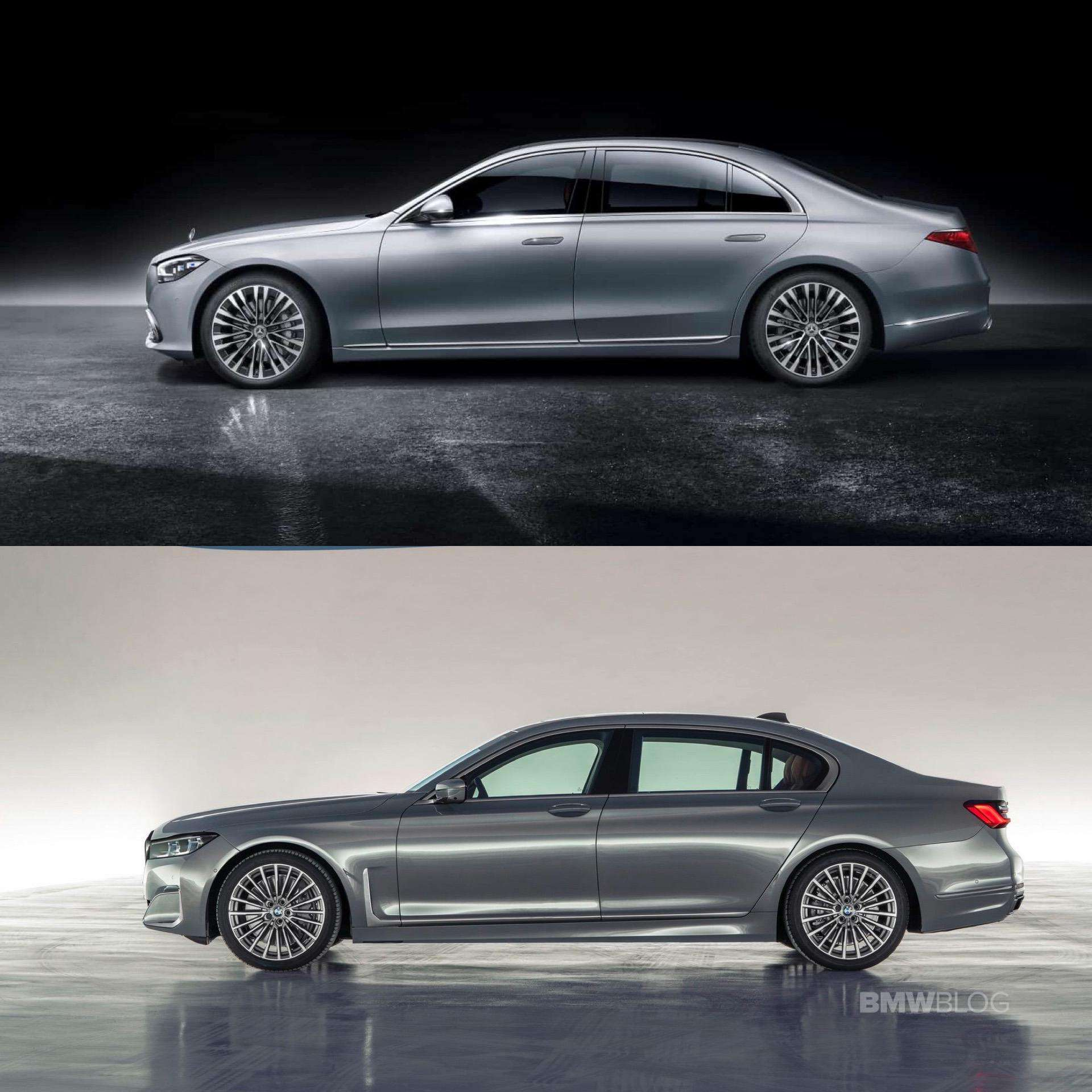 Visual Contest Bmw 7 Series Head To Head With New Mercedes Benz S Class