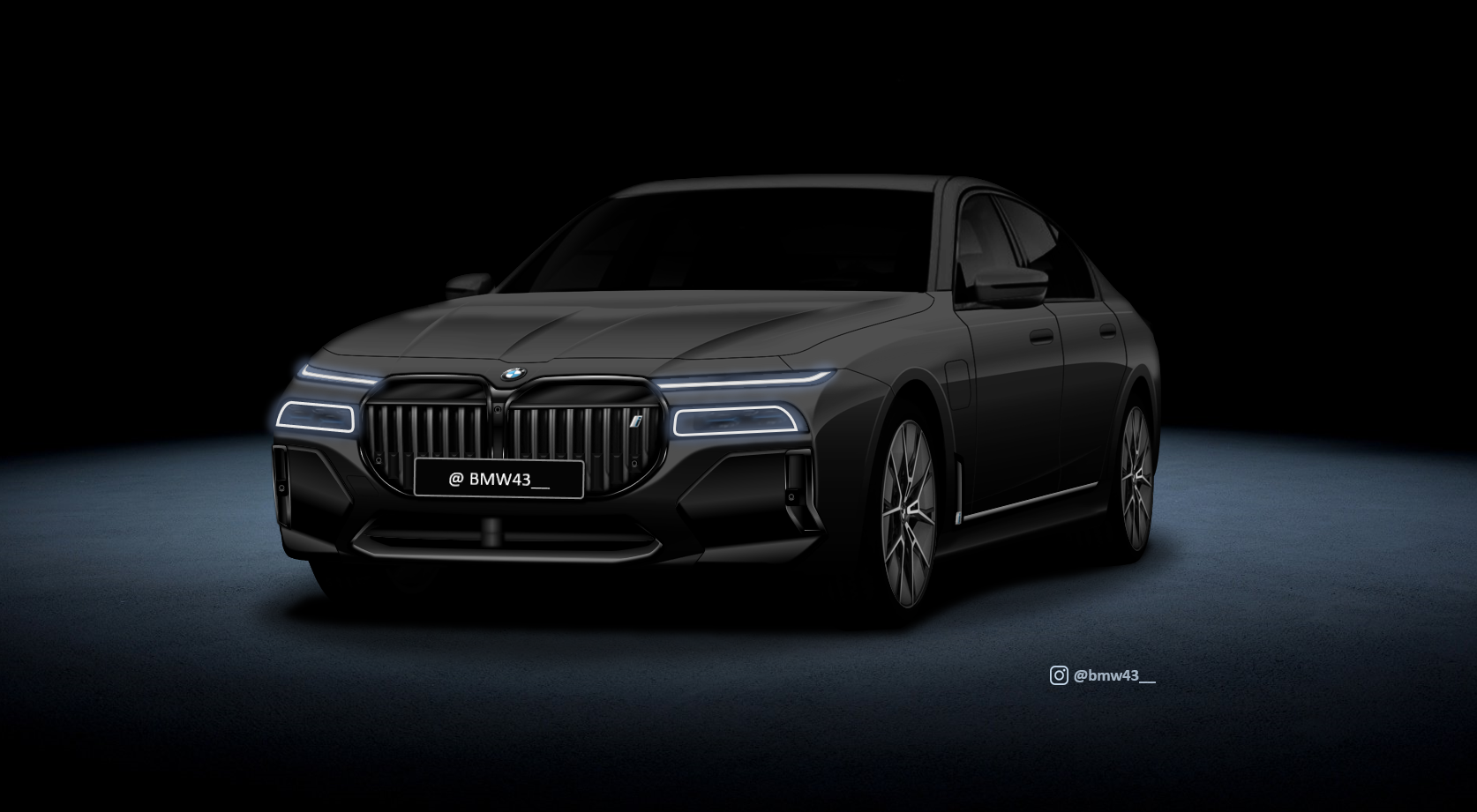 2022 bmw 7 series rendering