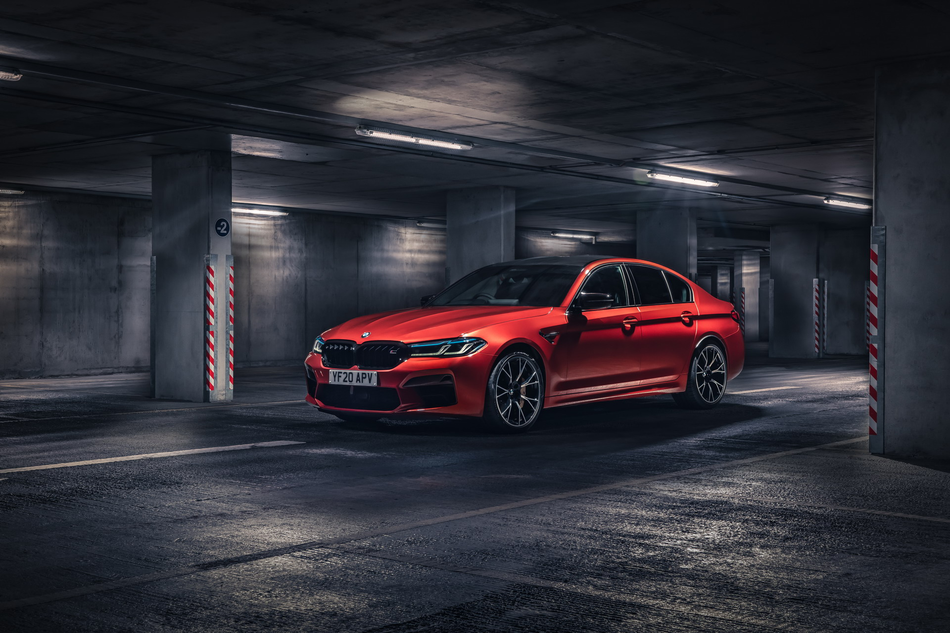 Bmw M5 Competition Facelift Looks Fantastic In Motegi Red
