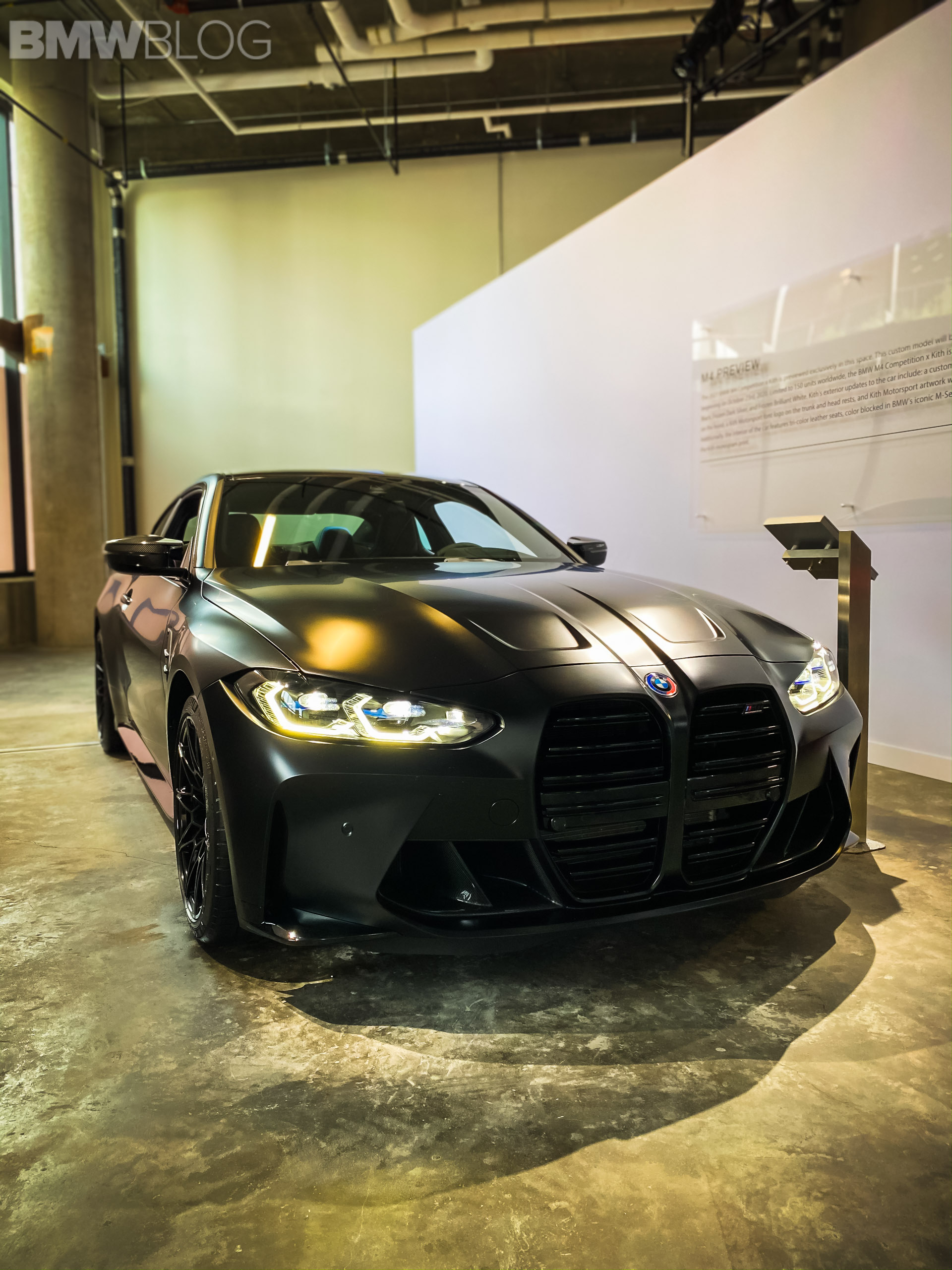 2021 G82 Bmw M4 By Kith Real Life Photos Videos Of The Frozen Black Color