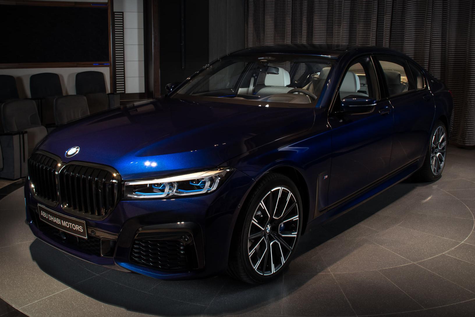 2020 BMW M760Li Tanzanite Blue 1