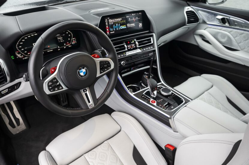 2020 BMW M8 Gran Coupe silverstone merino leather 01 830x553