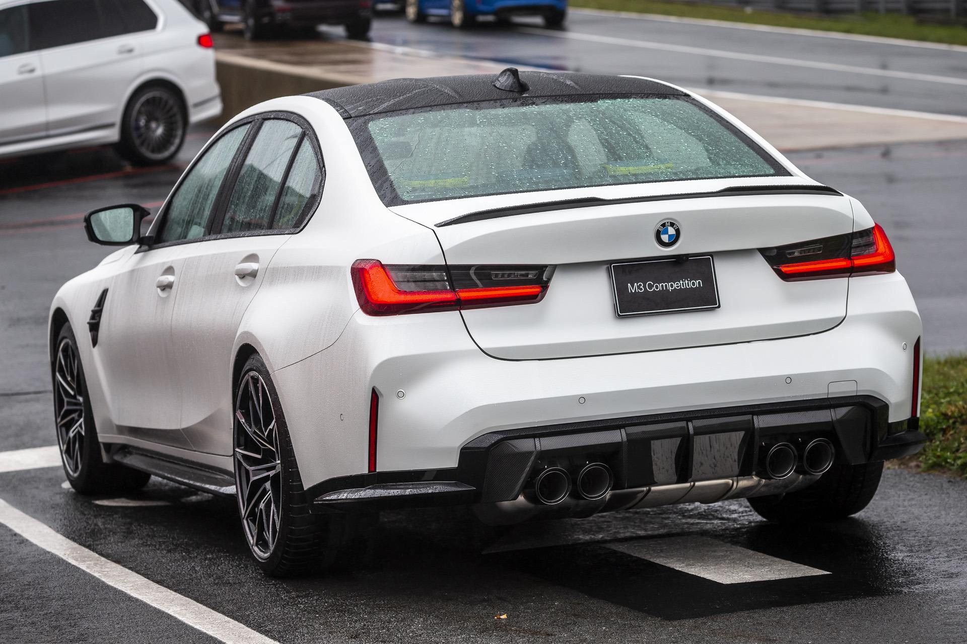 2021 bmw m3 sedan shown in frozen brilliant white and yas