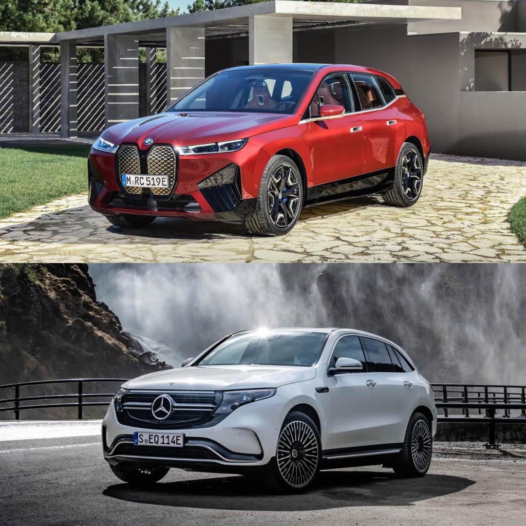 BMW X vs Mercedes Benz EQC 5