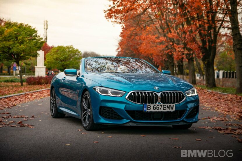 2020 BMW M850i Convertible atlantis blue44 830x553