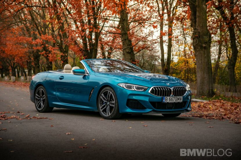 2020 BMW M850i Convertible atlantis blue45 830x553