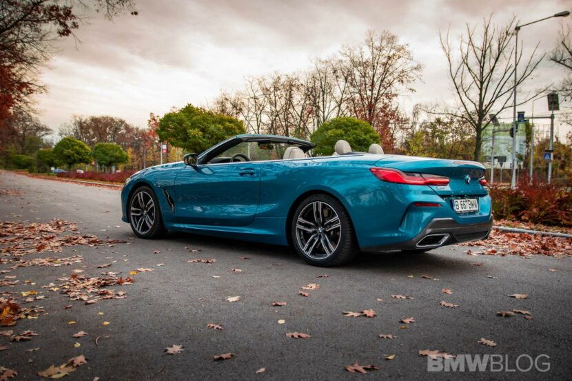 2020 BMW M850i Convertible atlantis blue49 830x553