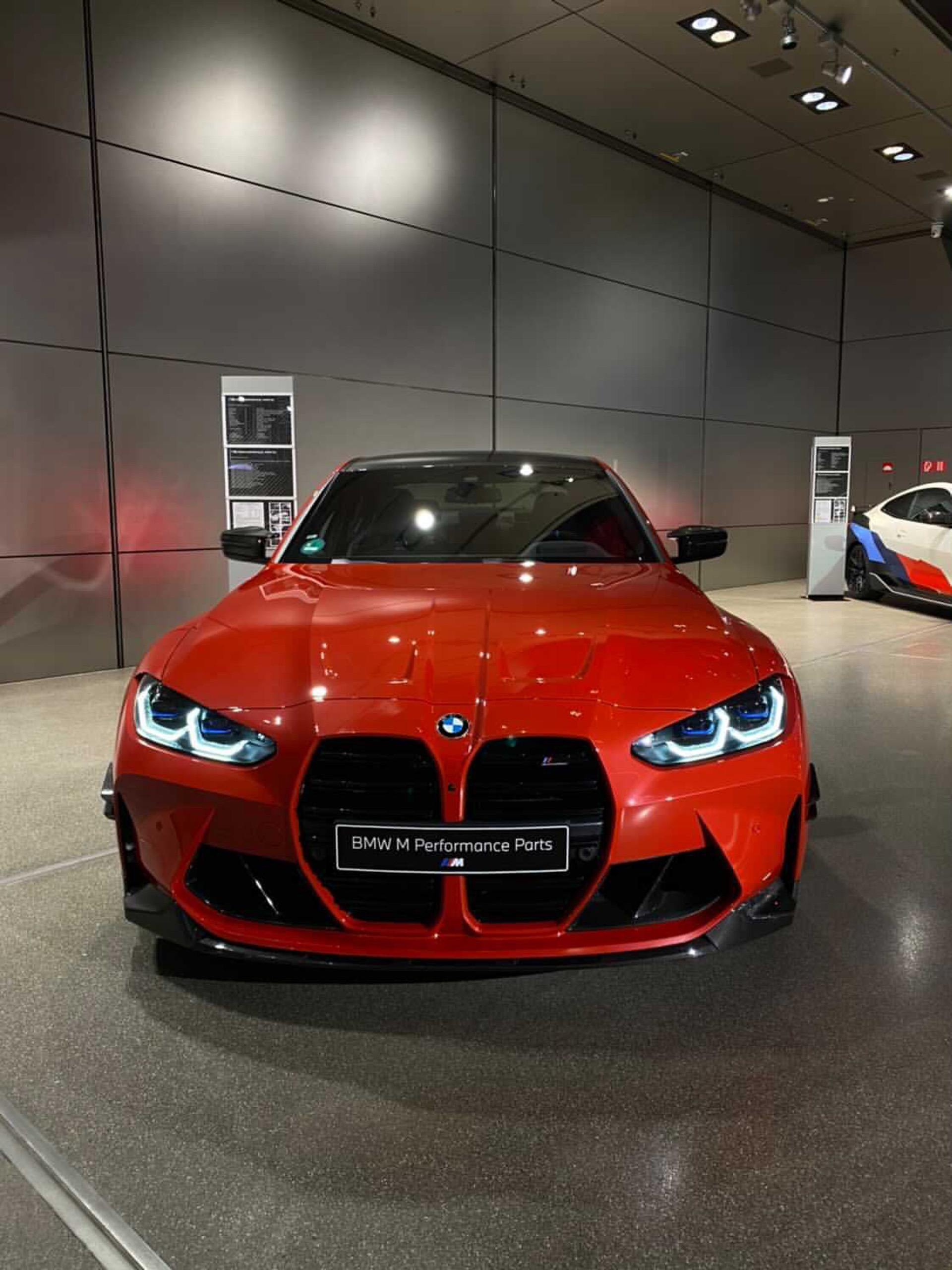 2021 bmw m3 m performance parts red color 06
