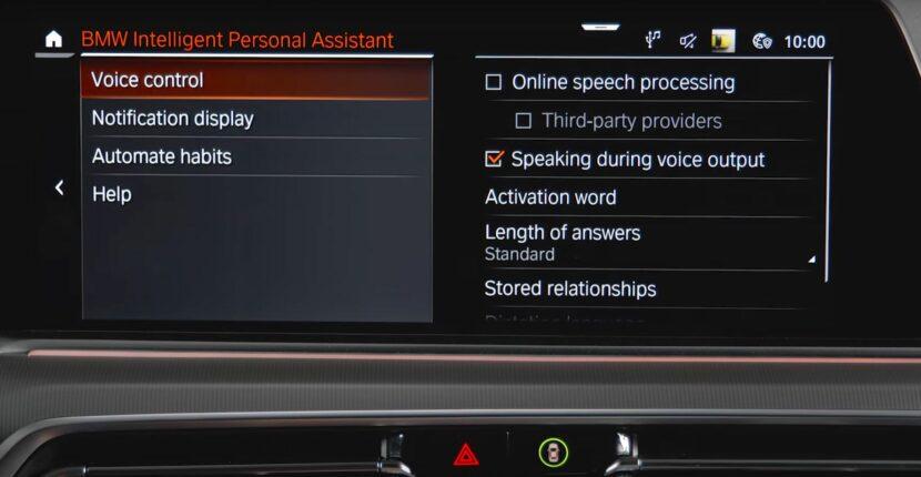 bmw intelligent personal assistant submenu 830x430