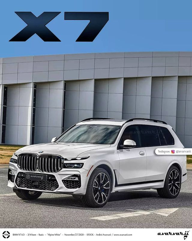 bmw x7 facelift render