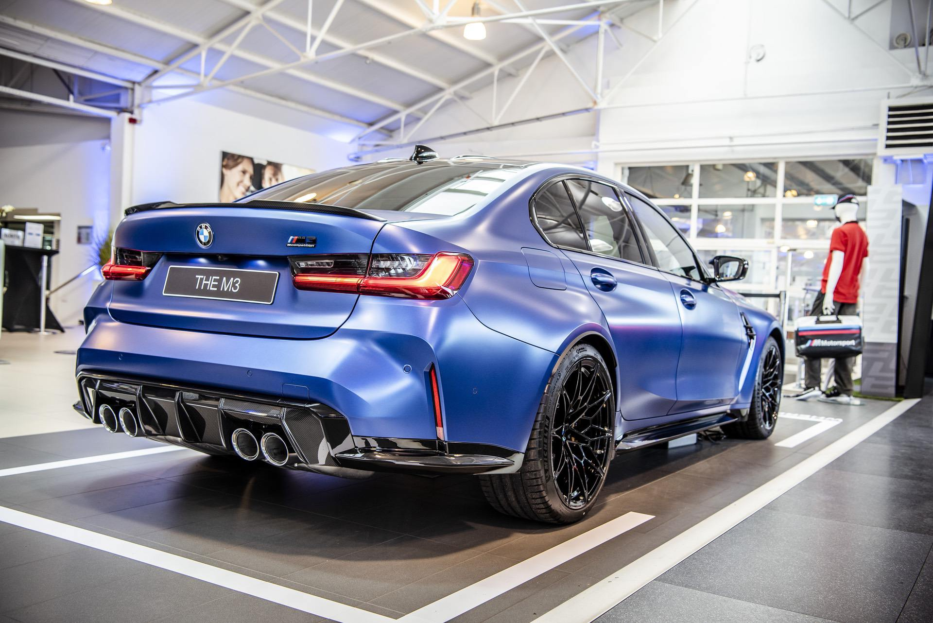 2021 Bmw M3 Displayed In The Frozen Portimao Blue Color From Bmw Individual