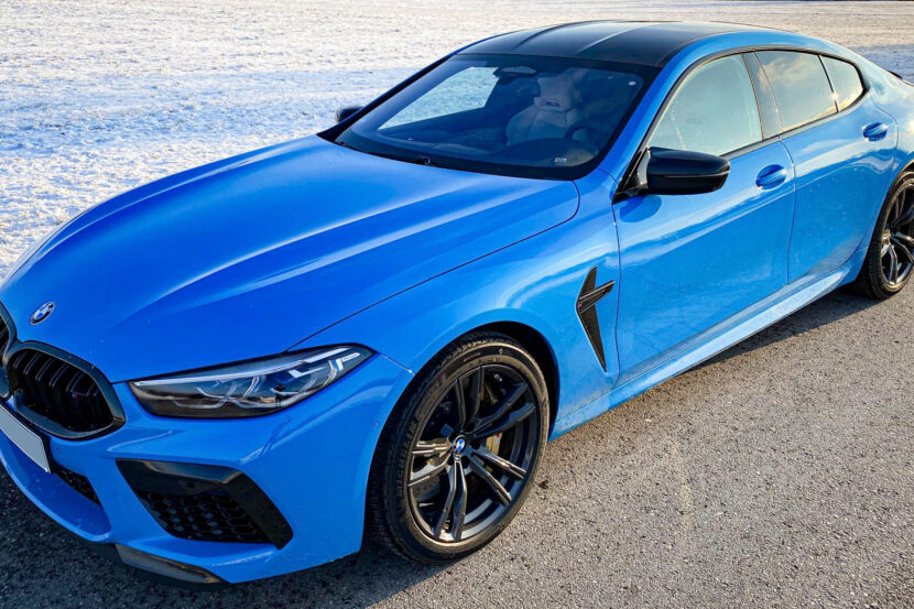 Individual Mexico Blue BMW M8 Gran Coupe Martin Tomczyk 01 830x553