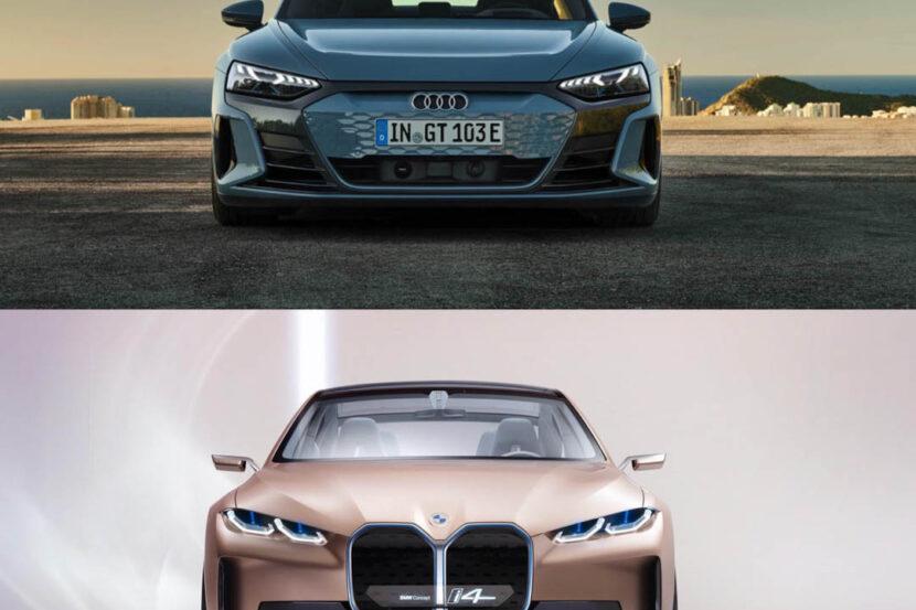 Audi e tron GT vs BMW i4 Concept 1 830x553