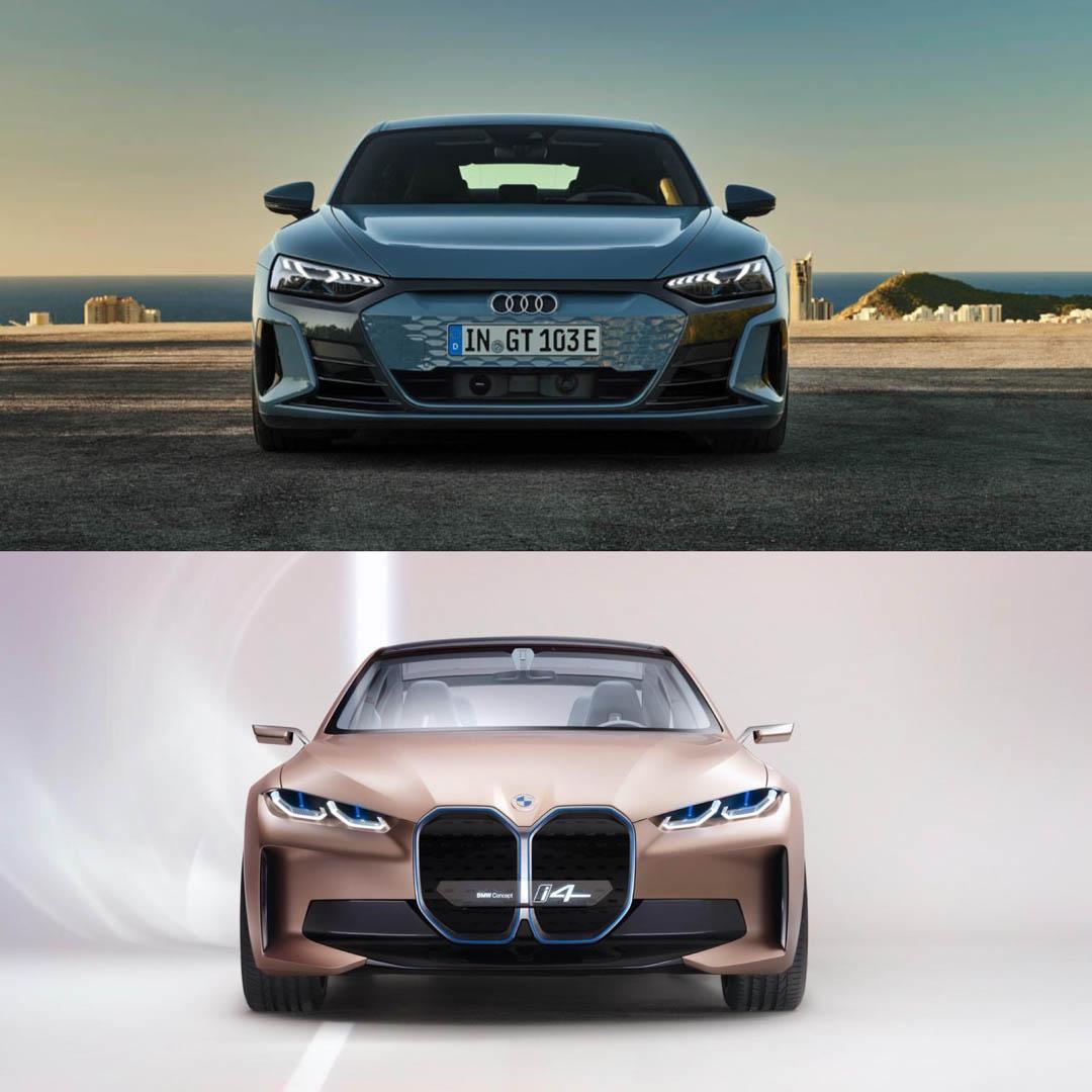 Audi e tron GT vs BMW i4 Concept 1