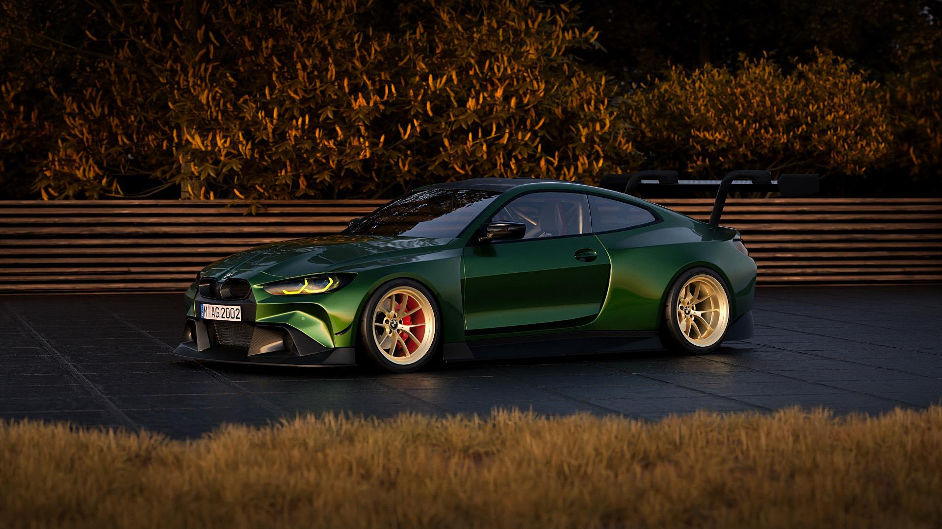 bmw m4 csl widebody render 01