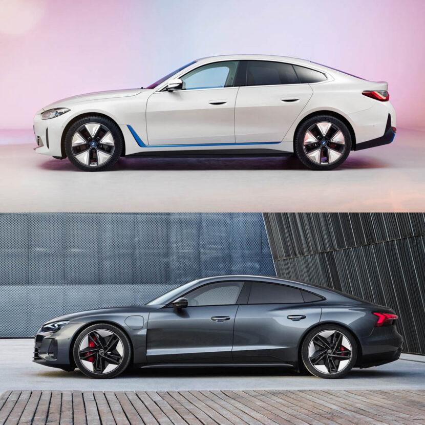 BMW i4 vs Audi e tron GT 4 of 5 830x830