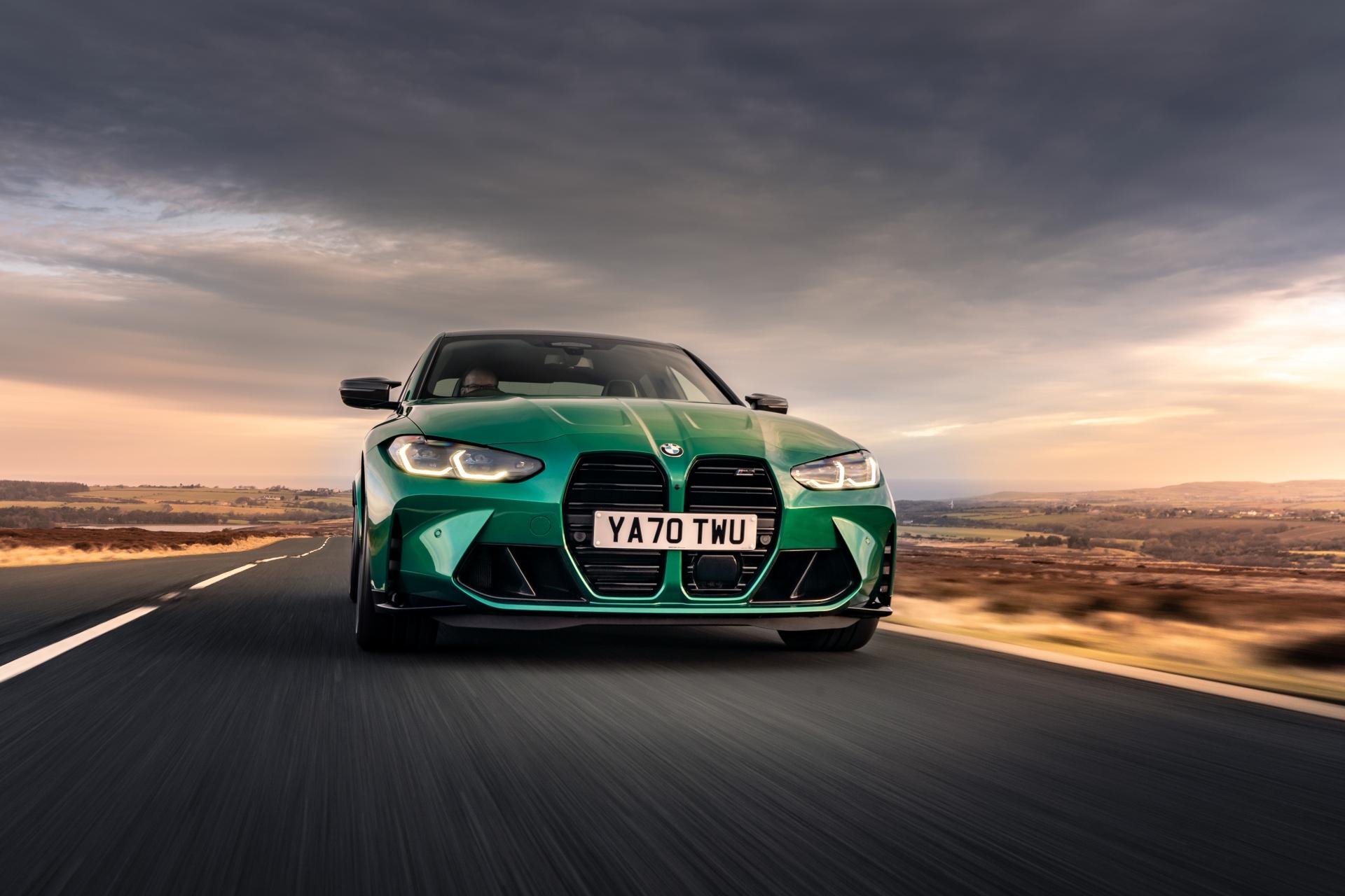 The New BMW M3 Competition Sedan UK 45