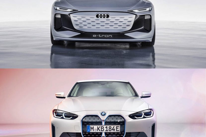 Audi A6 e tron vs BMW i4 4 of 5 830x553