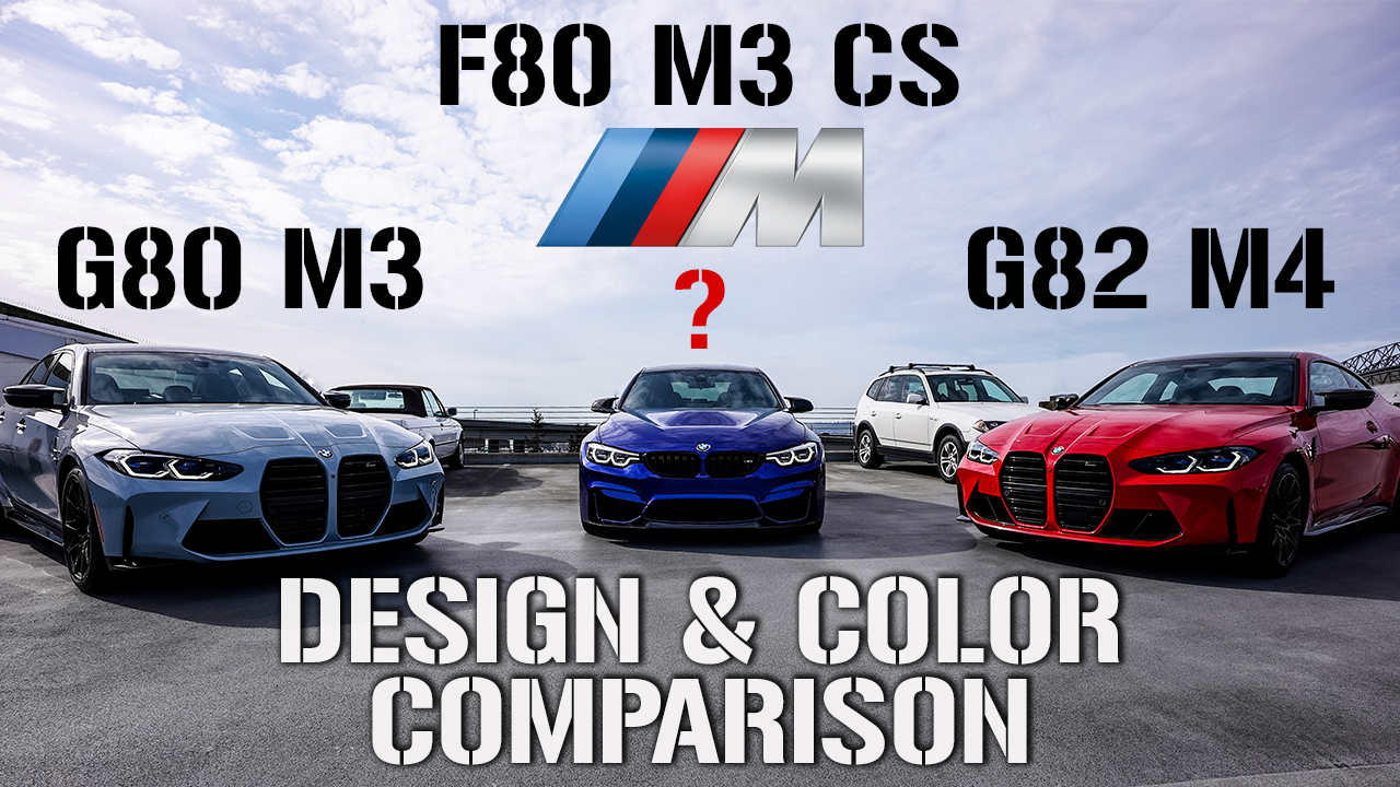 BMW G80 M3 and G82 M4 vs. F80 M3 CS – Design Comparison Video