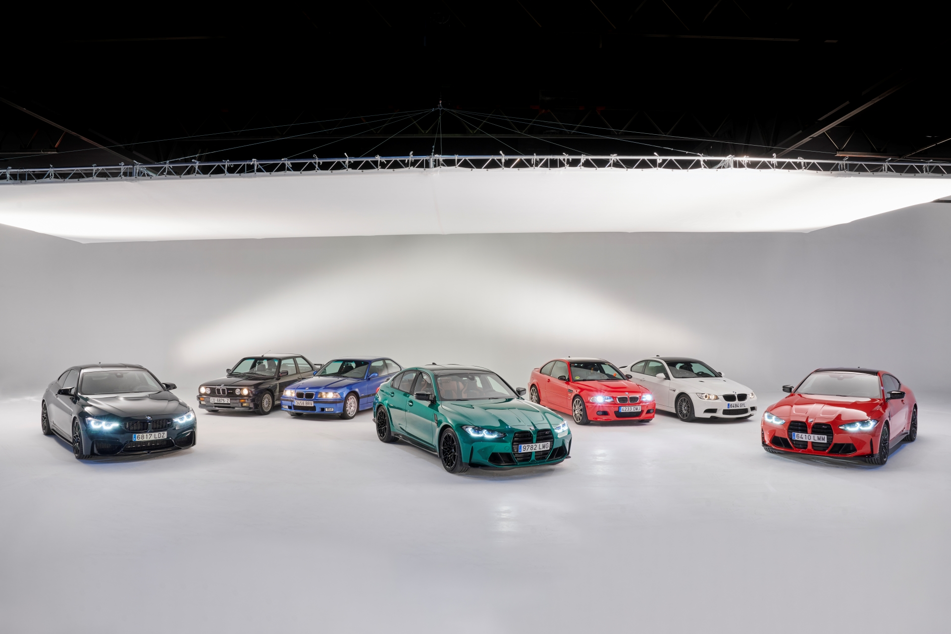 The BMW M3 Six generations 1
